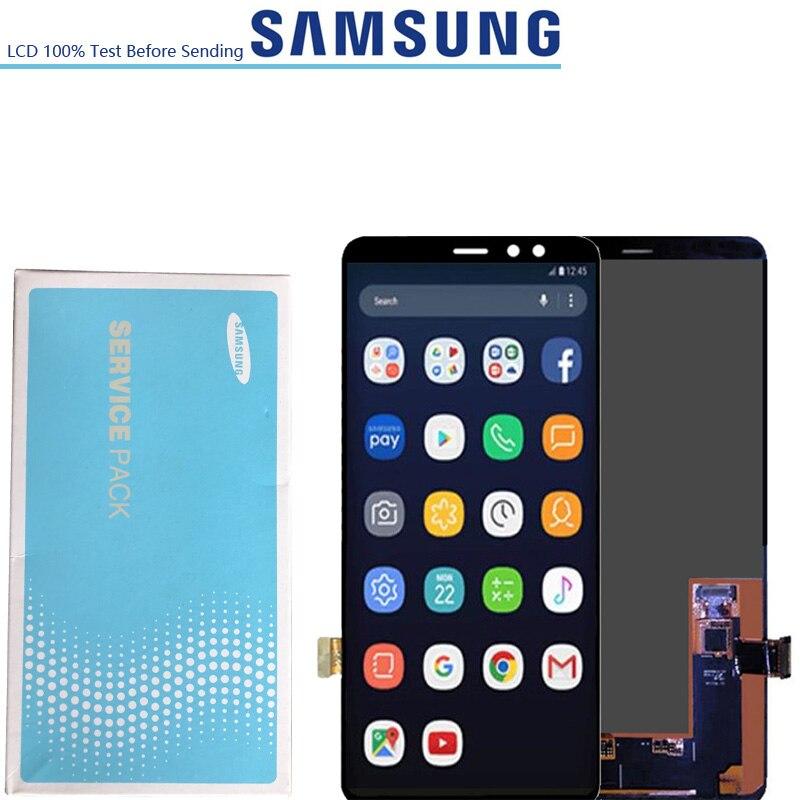 6.0 ''oryginalny wyświetlacz LCD super amoled dla SAMSUNG A8 A8 + 2018 A730 A8 plus A730F ekran LCD Digitizer montaż dotykowy w Ekrany LCD do tel. komórkowych od Telefony komórkowe i telekomunikacja na AliExpress - 11.11_Double 11Singles' Day 1