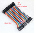 40pcs/lot 10cm 40P 2.54mm dupont cable jumper wire dupont line male to female dupont line free shipping