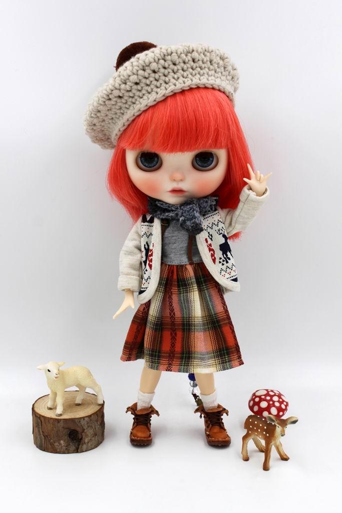 e932d0dcad Dość JSB10 BJD lalki ubrania dwuczęściowe outfit Płaszcz z Sukienka słodkie  garnitury dla Blyth Doll Krótkie Ubrania Dla lalek Akcesoria Dla lalek