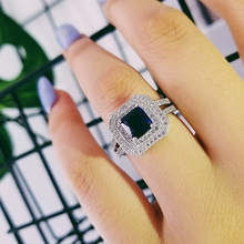 luxury wedding  Engagement ring for women 925 sterling silver luxury  big ring jewelry moonso LR786S moonso