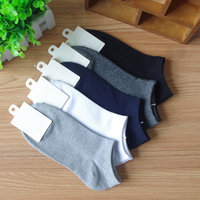 New 2019 Fashion Men Socks 9 11 Cotton Boat Towel Bottom Short Tube Concise T N117 N134