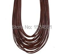 80 М Оптовая Навощенные Хлопок Ожерелье Шнура 2 мм * вощеная нить для кожи кожаный шнур rope медной проволоки