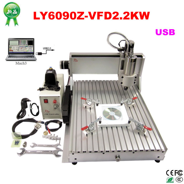 USB PORT cnc 6090 3 Axis CNC Router 3D cnc wood carving machine with 2200W water cooled spindle cnc lathe machine 3 axis cnc 4030 engraving machine 1500w water cooled drilling milling lathe with usb interface