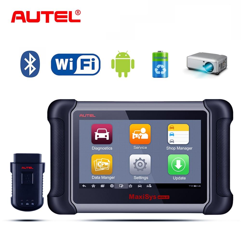 цена на 100% Original AUTEL MaxiSys MS906BT Auto Car Diagnostic tool OBD2 ECU Coding Scanner Better than DS808 DS708 Fast Shipping