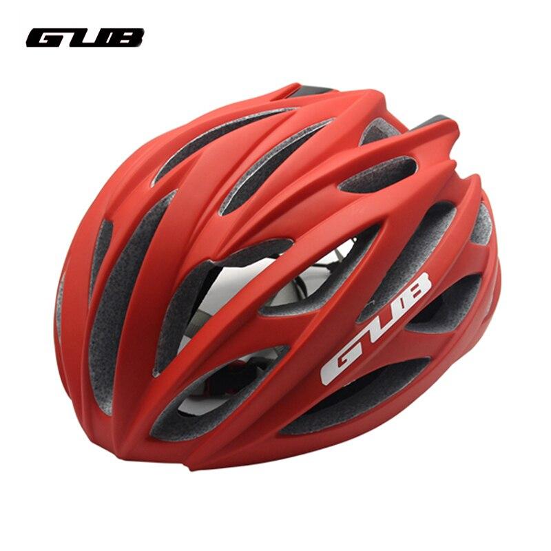 все цены на GUB 26 Air Vents Ultra-light Road Racing Bicycle Helmet Endurance MTB Cycling Bike Safety Helmet Sports In-mold Brim 58-62cm онлайн