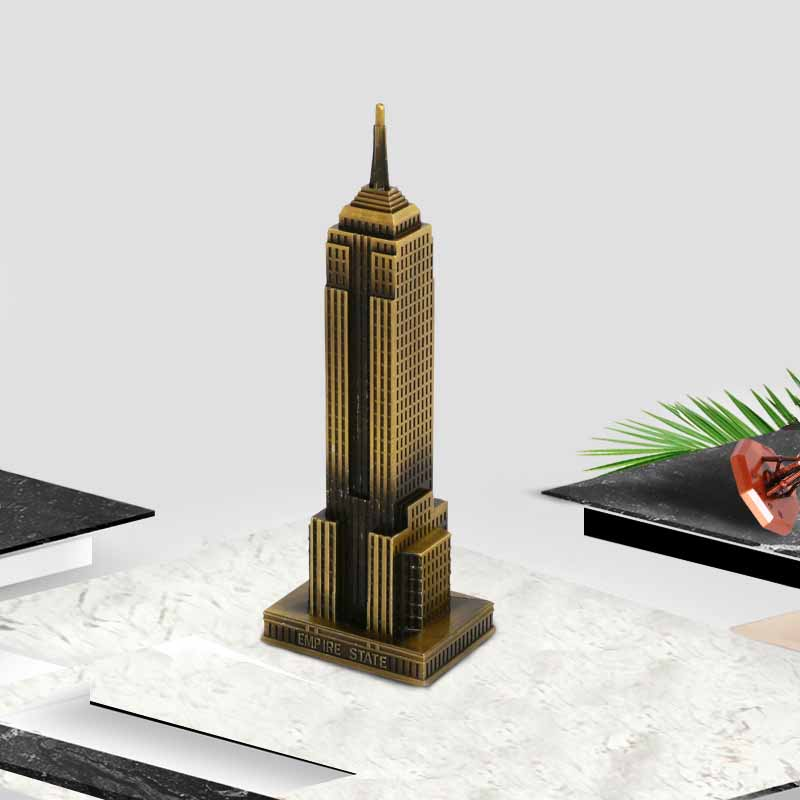 etal Decoration Empire State Building US skyscrapers Molded Home Creative Decoration Shooting Props Decoration Crafts