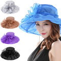 Summer Fashion mujeres Iglesia Kentucky Derby Cap British Tea Party Boda Sombrero