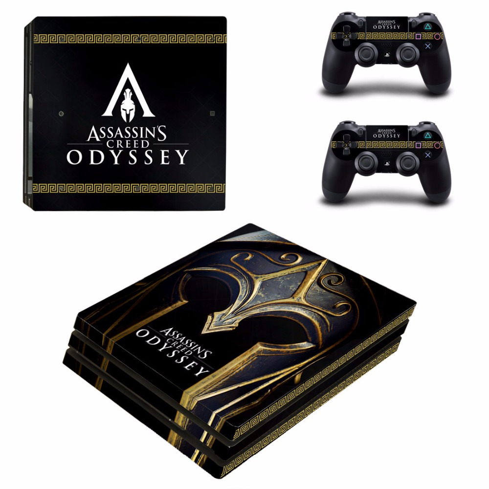 PS4 Pro Skin Sticker For PlayStation 4 Pro Console and Controller PS4 Pro Skins Stickers Decal Vinyl - Assassins Creed Odyssey