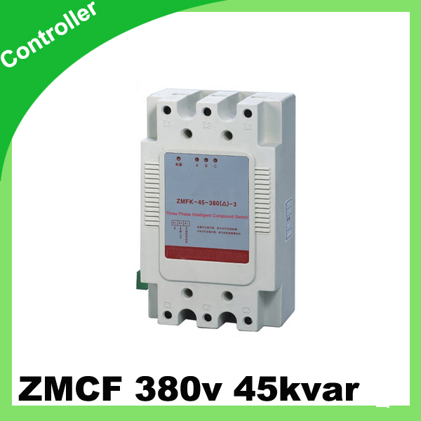 ZMFK Three phase Intelligent composite switch with thyristor controll 380v 45kvar Y type connection beroun hs650 10kw three phase 380v single phase 220v power remote control thermostat temperature control switch
