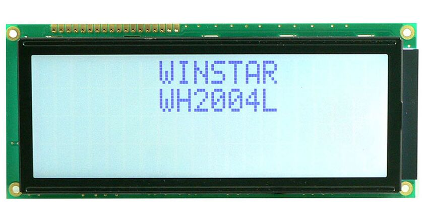 WH2004L WINSTAR 24 characters by 2 lines Character LCD display module is built in with ST7066 controlle ICscreen white backlight module 1604 164 16 4 character lcd module lcm display blue backlight white character 5v logic circuit