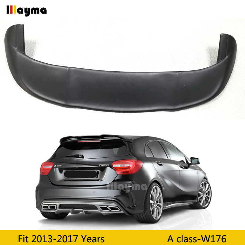 PIECHA Style Fiber glass roof wing spoiler For Benz <font><b>A</b></font> class A180 A200 A250 W176 2013-2017 year rear trunk spoiler(not fit GLA) image