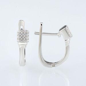 Image 5 - Pendientes de plata 925 SANTUZZA para mujer, pendientes tipo botón de plata fina 925 con piedras de Zirconia cúbica, joyería brincos