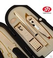777 Позолоченные Маникюрный Набор Клипер Ногтя наборы Ножницы Пальцев Установить 6 в 1 Ногтей Набор Инструментов Лучший Подарок для Друга и семьи