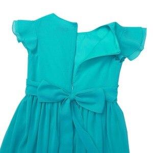 Image 5 - Iiniim בנות פרח טוטו שמלת רפרוף שרוולים נסיכת שמלות שושבינה קיץ מסיבת יום הולדת שמלת בגדי ילדים
