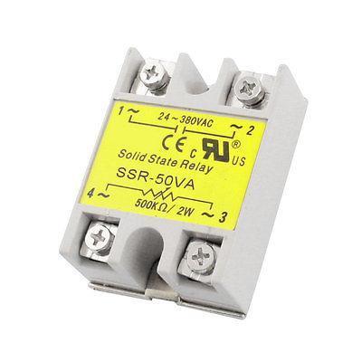 SSR-50VA AC 24-380V 50VA Metal Base Single Phase Solid Module State Relay high quality ac ac 80 250v 24 380v 60a 4 screw terminal 1 phase solid state relay w heatsink