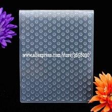Точки пластиковый с тиснением папка для самодельный альбом Скрапбукинг карты инструмент пластик шаблон 12,1x15,3 см 8071034