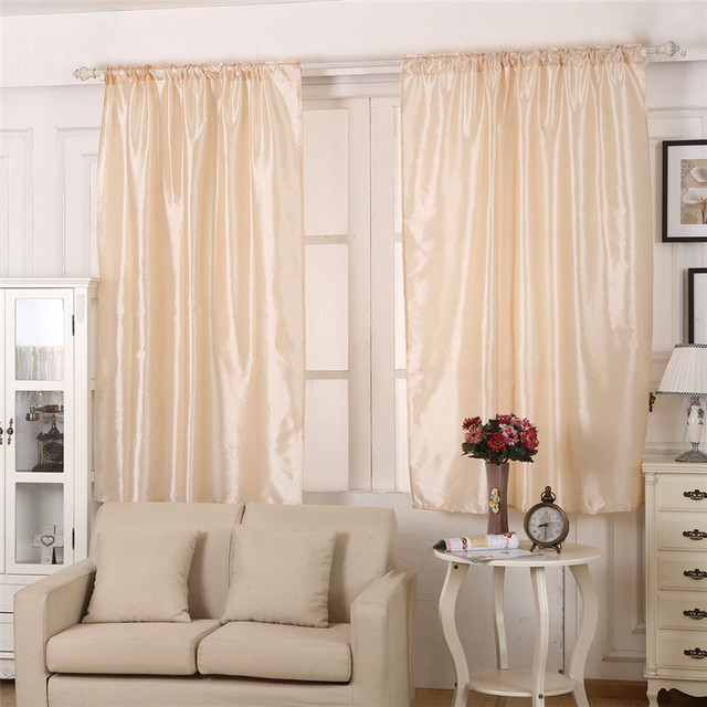 Home Wider 145cm X 180cm 1PCS Solid Color Polyester Window Curtain Panel  Treatment Door Drapes