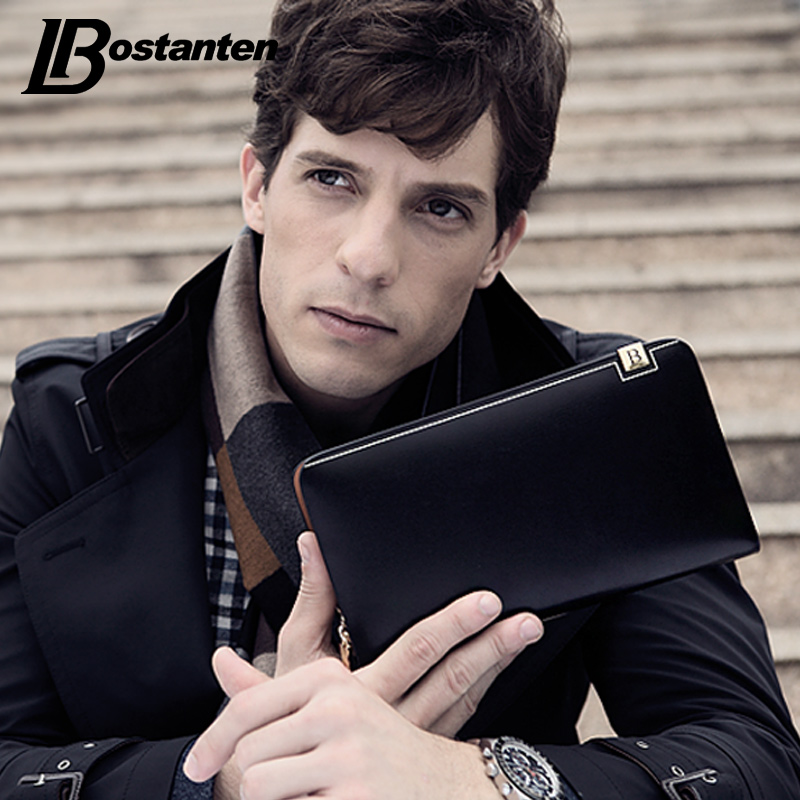 BOSTANTEN Luxury Wallet Male Split Leather Purse Men Fashion Long Money Clutch With Card Holder Pocket Dollar Price Portfolio pocket monster pokemon wallet teenager boy girl kawaii pikachu poke ball wallet naruto student dollar bag card holder purse 12