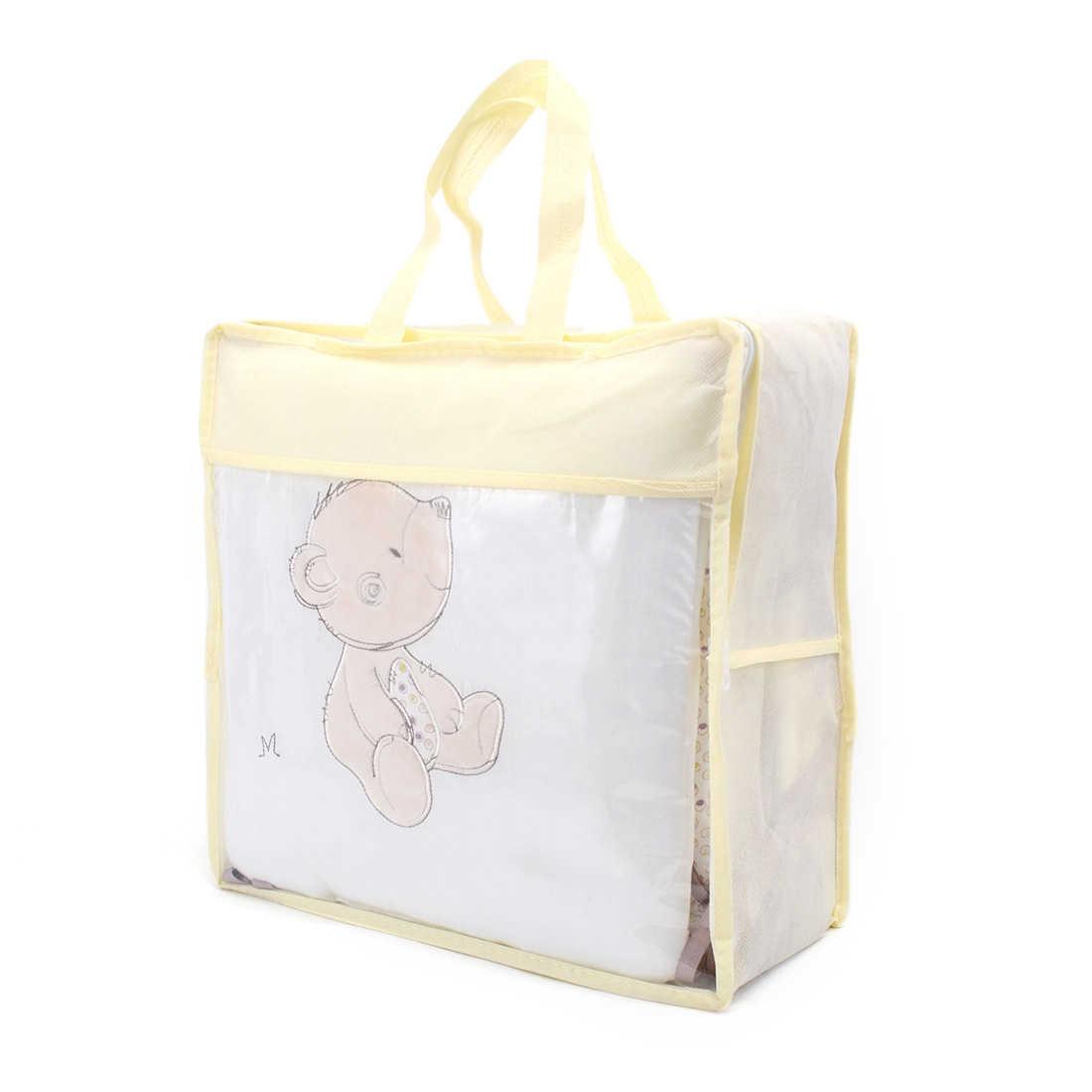 6 יח'\חבילה יילוד עריסה פגוש תינוק מיטת פגוש מגן פעוט עריסת קריקטורה מצעים פגוש בעריסה עבור תינוקות תינוק