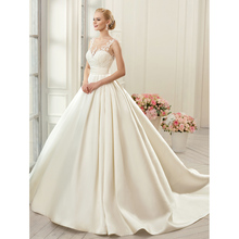 Thinyfull 2019 Vintage Top Lace Ivory Wedding Dresses A-line Backless Princess Bridal Gown Vestido De Noiva Custom Made