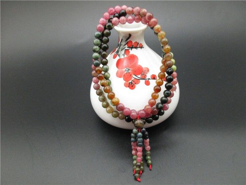 Bracelet en cristal de tourmaline coloré naturel Bracelet en pierre naturelle femmes en gros 10mm livraison directe cadeau de noël - 5
