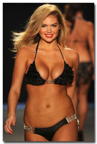 Kate Upton Fashion Show Sexy Hot Model Girl Silk Poster