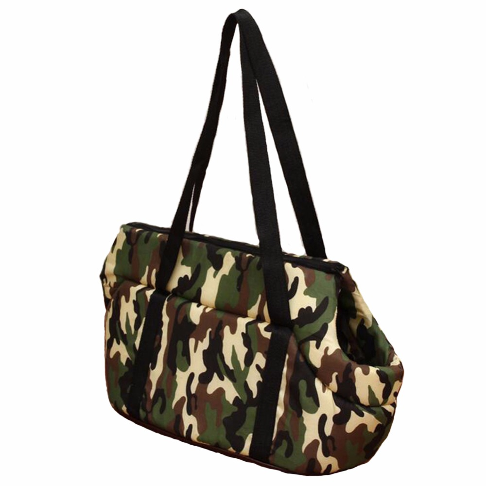 Camouflage Pet Bag Dog Carrier Travel Carrying Bag for Dogs Dog Cat Slings Shoulder Carrier Bag Holder Backbags