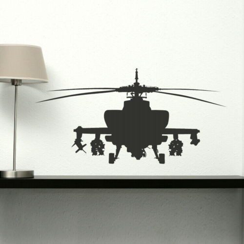 Helicopter Wall Stickers For Boys Bedroom Airplane Wall Decal for ...