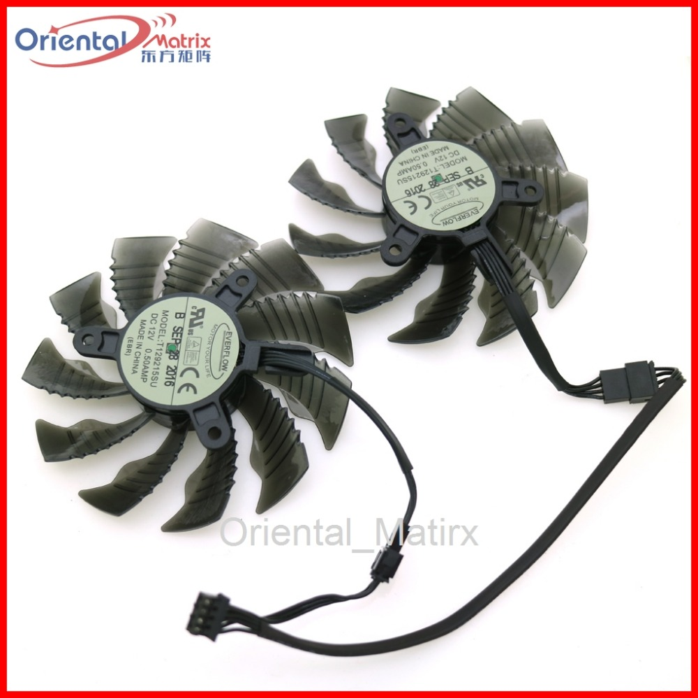T129215SU 12V 0.50A 86mm 4Pin VGA Fan For Gigabyte GTX1060WF2OC N1050OC-2GD GTX1050TI 4G GTX1060 Graphics Card Cooling Fan computador cooling fan replacement for msi twin frozr ii r7770 hd 7770 n460 n560 gtx graphics video card fans pld08010s12hh