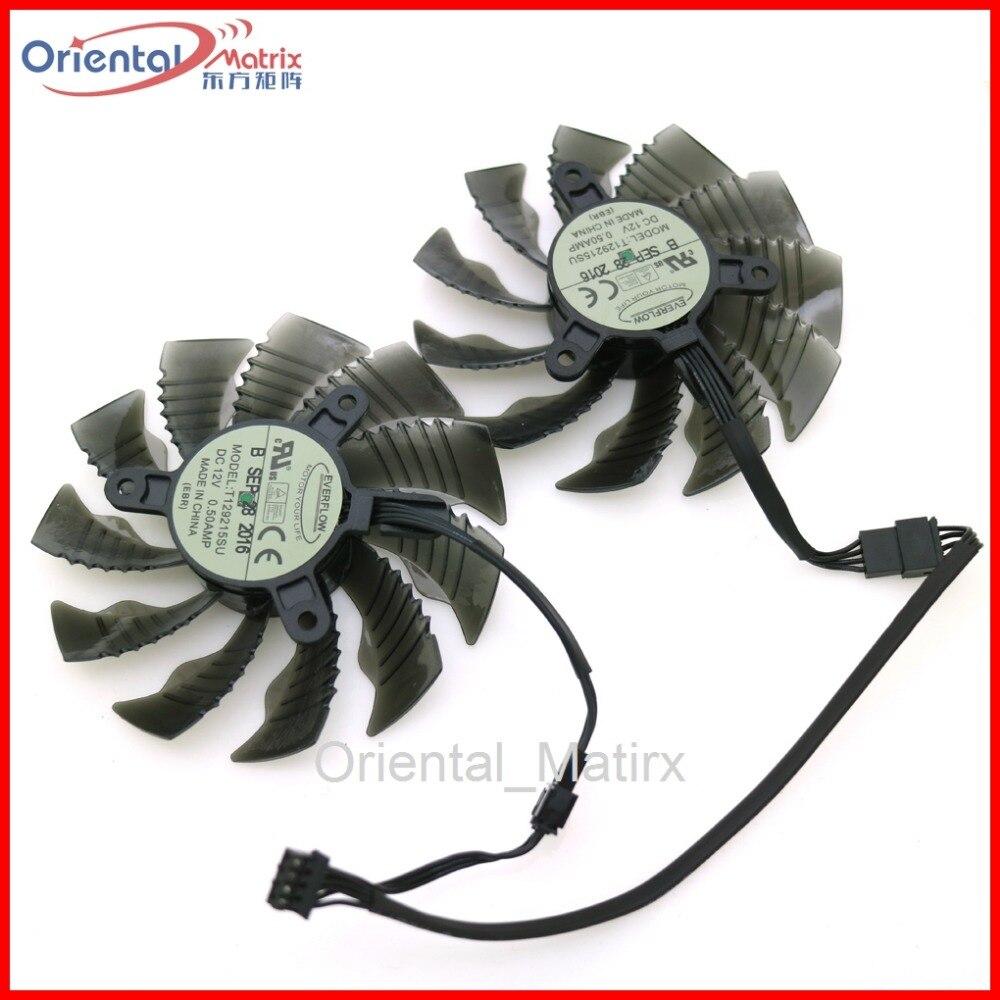 T129215SU 12V 0.50A 86mm 4Pin VGA Fan For Gigabyte GTX1060WF2OC N1050OC-2GD GTX1050TI 4G GTX1060 Graphics Card Cooling Fan