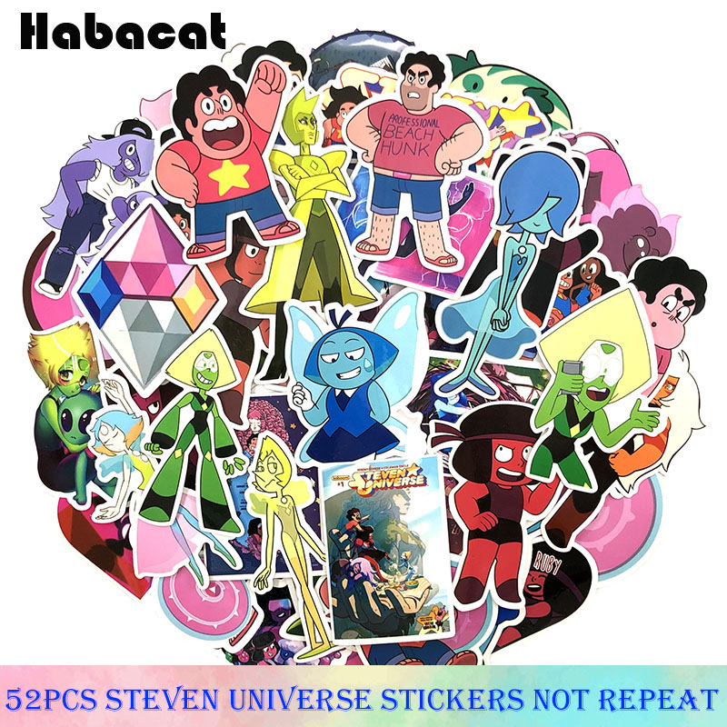 52 Pcs/Pack New Cartoon Lion Steven Universe Stickers For Motorcycle Luggage Laptop Bicycle Fridge Skateboard anime Stickers(China)