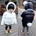 Chaqueta de invierno Para Niñas Niños Niños Ropa Niños Abrigos Espesar Chaquetas de Algodón Niñas Con Capucha de la Panda Estilo de trajes para la Nieve Ropa