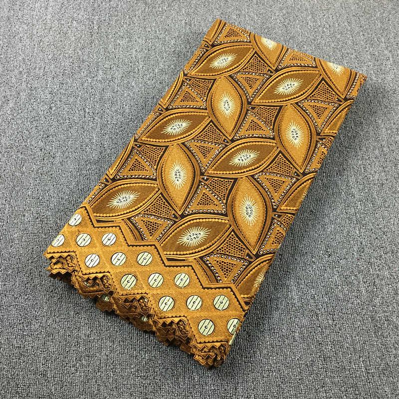 Tela de encaje africano encaje bordado oro encaje 100% algodón gasa 017 5yds para vestido de boda-in encaje from Hogar y Mascotas    3