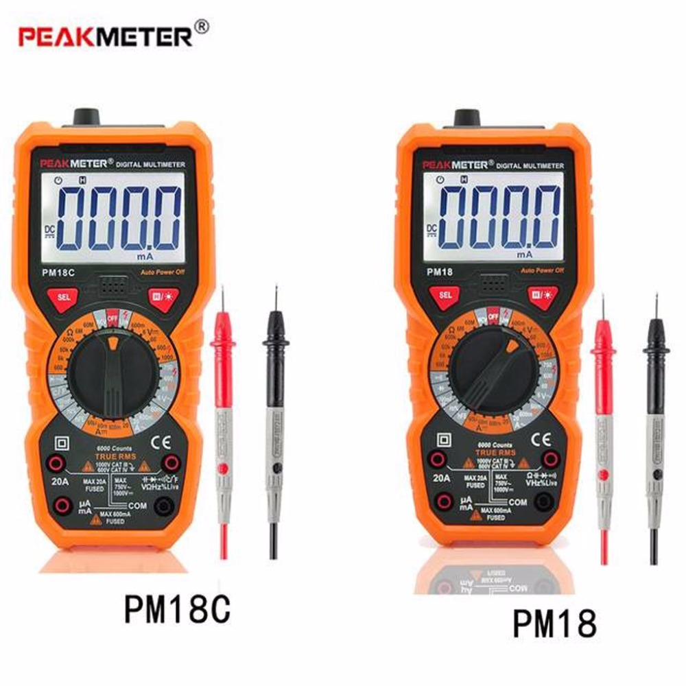 Digital Multimeter Multimetro PM18 Voltage Current Tester Resistance Tester Capacitance Frequency Temperature hFE NCV multimeter цена