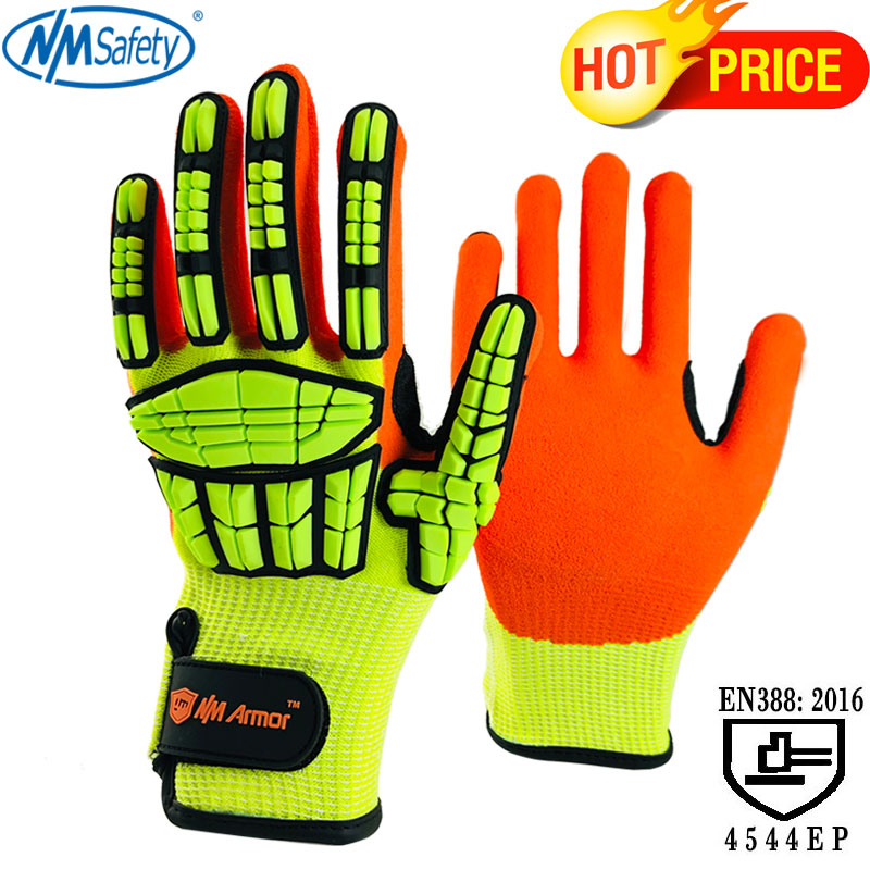 NMSafety 100% High Quality Anti Vibration New Mechanic Gloves Cut-Resistant Safety Hand Work Gloves