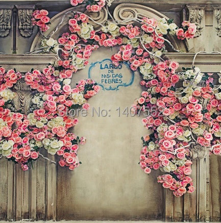 2016 Free Shipping 1010ft Vinyl Computer Printed Backdrop Wedding Background Flowers Wall Korean Photography In From Consumer