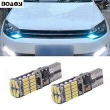 Boaosi 2x T10 светодио дный W5W samsung автомобиля светодио дный авто лампы светильники для VW POLO Golf 5 6 7 GTI Passat B5 B6 B7 Jetta Бора MK5 MK6 Tiguan
