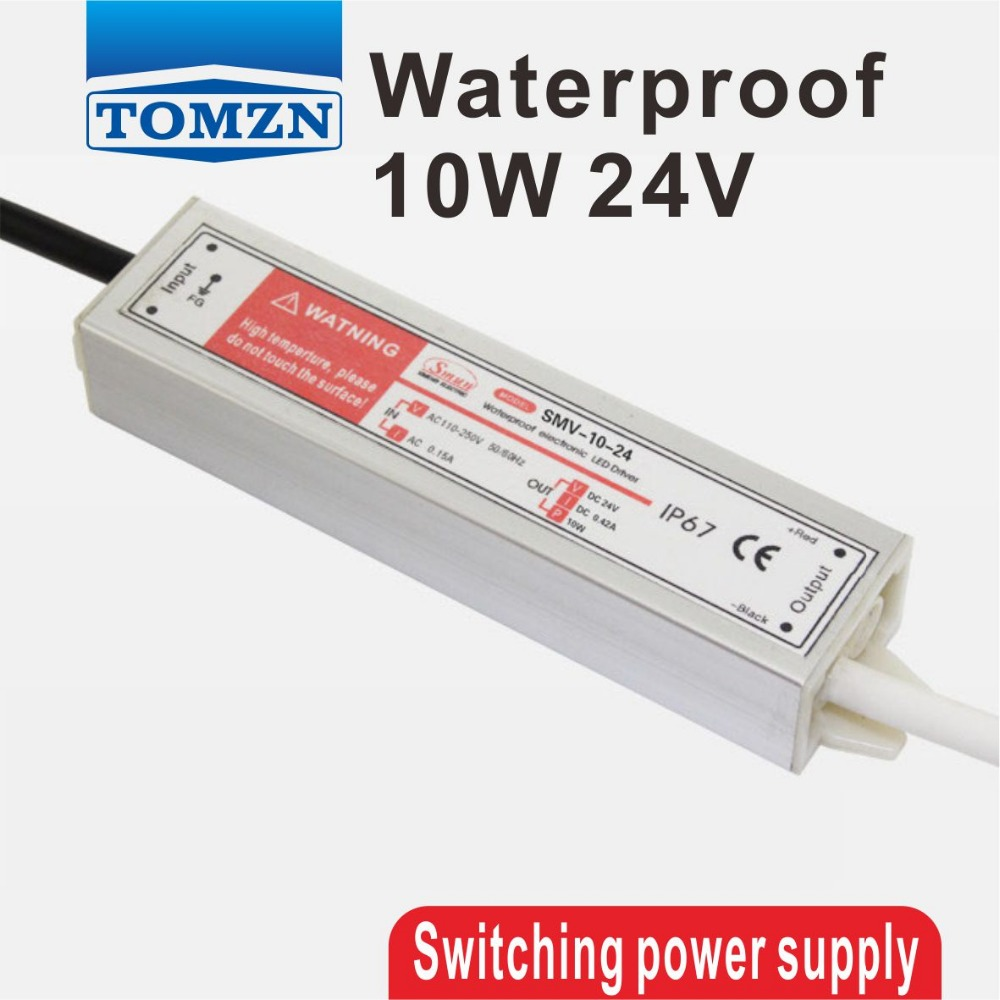 10W 24V Waterproof outdoor Single Output Switching power supply for LED Strip light ac to dc ac 85v 265v to 20 38v 600ma power supply driver adapter for led light lamp