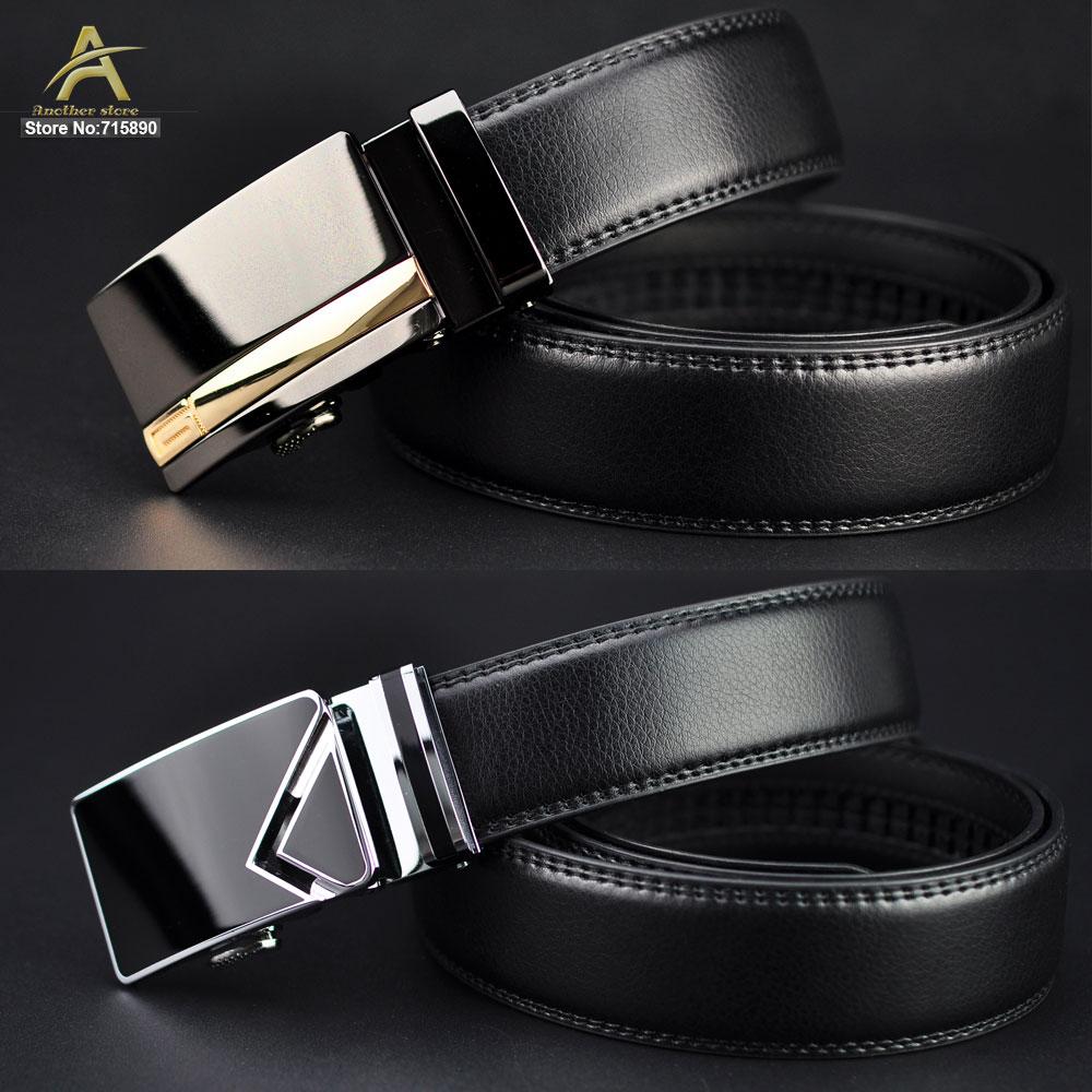 Men Genuine Leather Belt Cowhide Luxury Automatic Buckle