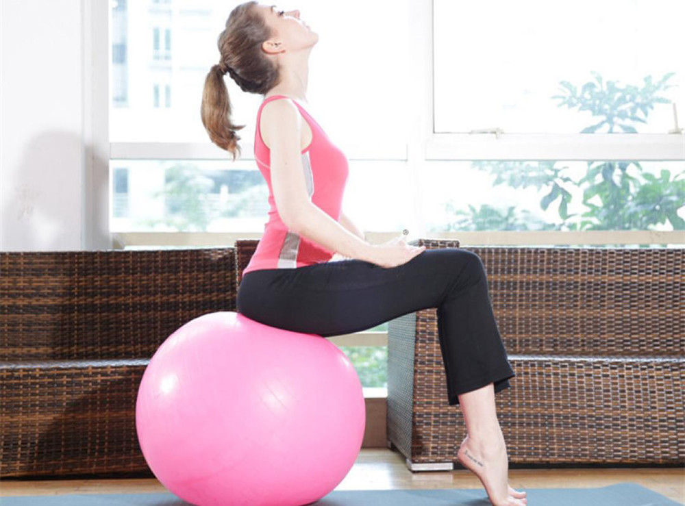 Swiss-Ball Pump Balance-Strength Exercise Fitness Yoga 65cm Pregnancy-Birthing Training