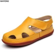 8076b4ef8 MHYONS nuevo estilo de la moda Casual niños niñas sandalias para bebé  Zapatos Anti-Slip niños sandalias de marca blanco rosa