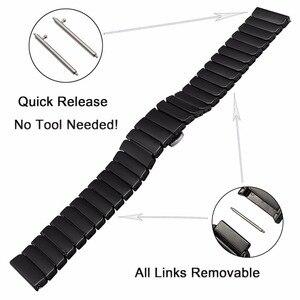 Image 3 - Ремешок керамический для Samsung Galaxy Watch 42 мм 46 мм, быстросъемный стальной браслет с застежкой бабочкой, 20 мм 22 мм