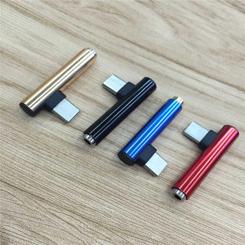 USB نوع C إلى 3.5 مللي متر جاك منظم سماعة AUX الصوت USB C سماعة بزاوية موصل للالهاتف المحمول جوجل نيكزس 6 P 5X LG G5 G6
