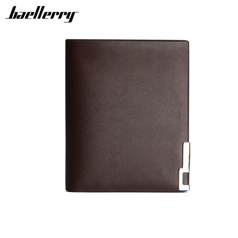 Baellerry Thin soft wallet men leather purse men wallets luxury brand money bag small pocket men wallet for male gift baellerry business black purse soft light pu leather wallets large capity man s luxury brand wallet baellerry hot brand sale