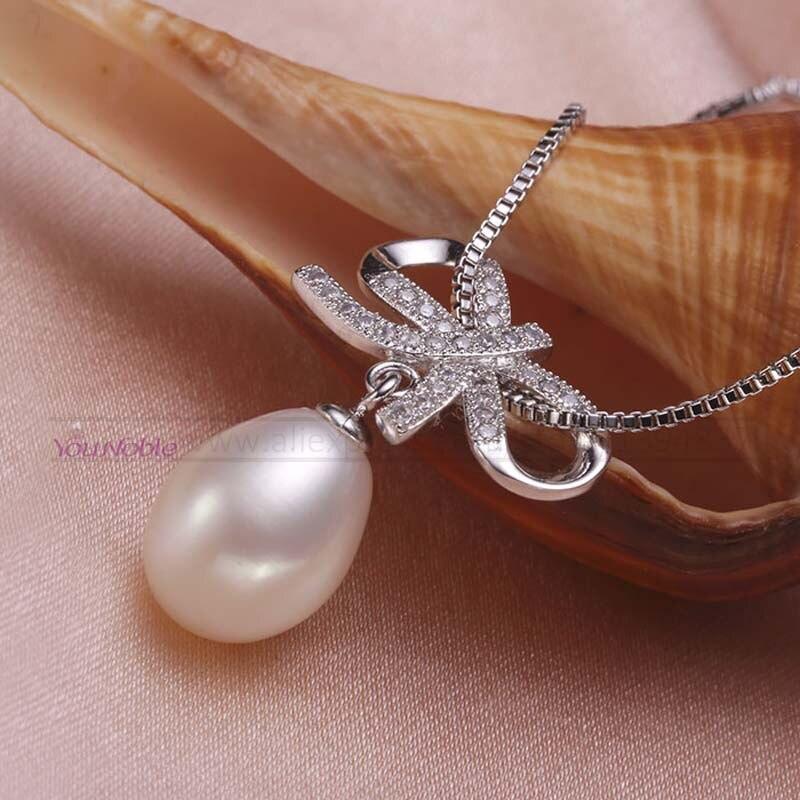 Ensemble de bijoux de mariage blanc ensembles de bijoux de mariée pour les femmes, 925 bijoux en argent sterling perle naturelle femme cadeau d'anniversaire de fiançailles - 4