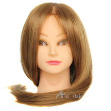 20″Hair Mannequin Head Hair Fake Hairdressing Doll Heads Training Manikin with Synthetic Hair Manik Cosmetology Educational sale