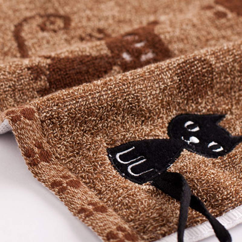 Cute Cat Themed Cotton Hand Towels