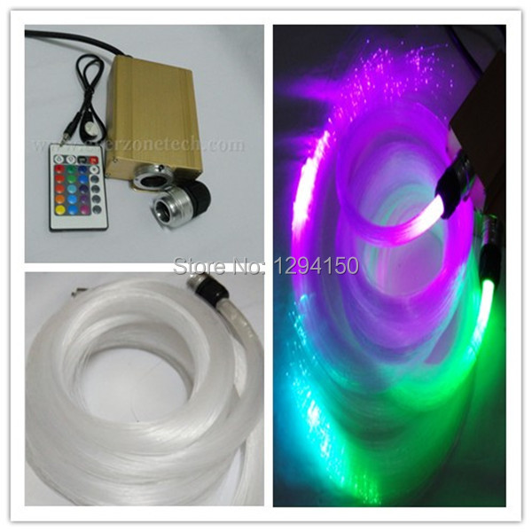 FY-2-001 60pcs 0.75mm * 2m + 60pcs 1.0mm * 2m Moden Mode LED DIY Fiber Optic Star Ceiling Kit de plafond