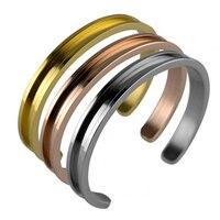 10 cái/lô Bangles Tóc Tie Lắc Tay trang sức Nickle Miễn Phí Vàng Bạc Màu Sợi Dây Màu Đen Mở Cuff Bracelet Đối Với Phụ N