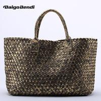 10 Colors Brand Shinning Woven Leather Handbag Cross Stitch Hobo Women S Knitting Serpentine Bag Large